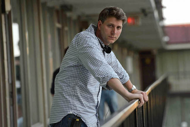 "Jeff Nichols on the set of Midnight Special, which filmed around the American South. ""I put my location managers through the ringer,"" says the director. Photograph by Ben Rothstein / Courtesy of Warner Bros. Pictures."
