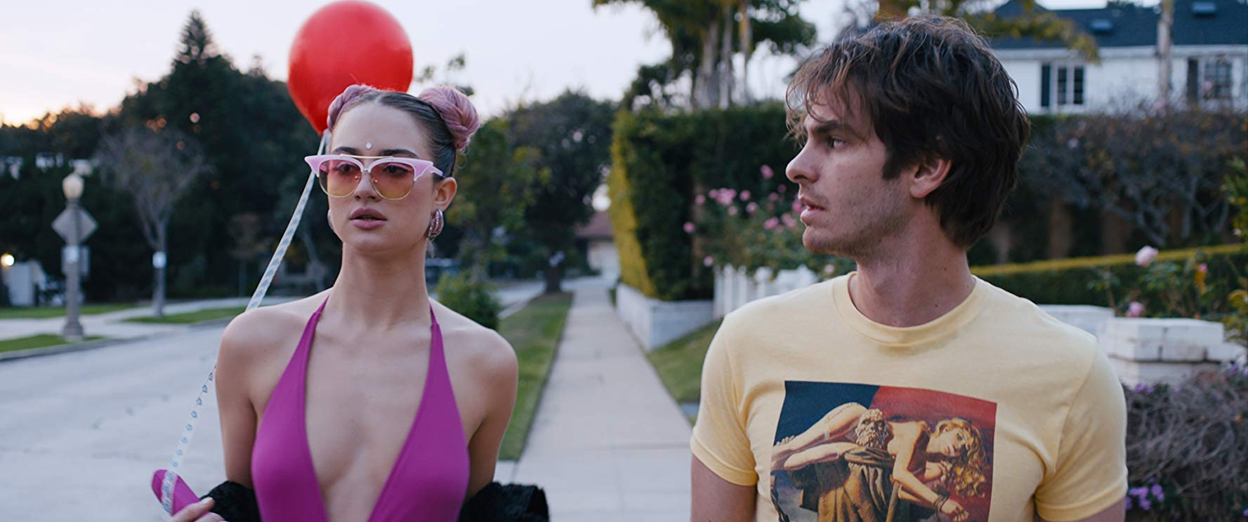 Van Patten with co-star Andrew Garfield
