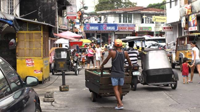 A street in Manila, as captured by the Hello Forever crew