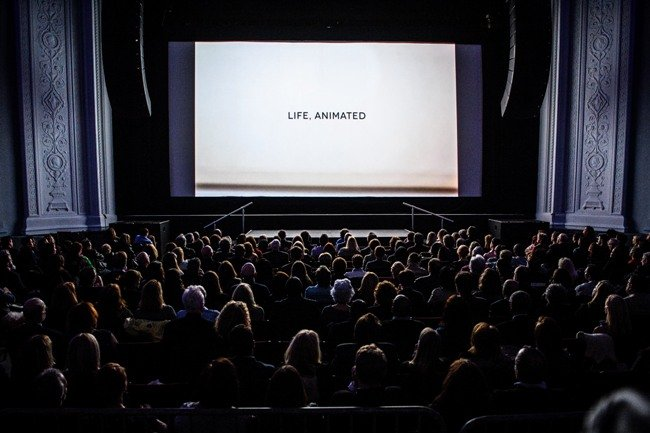 Montclair Film Festival 2015's opening night screening of Life, Animated. Photograph by Neil Grabowsky