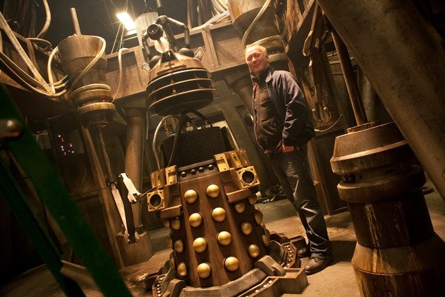 Neville Kidd on the set of the 50th episode of Doctor Who. Photograph by Adrian Rogers