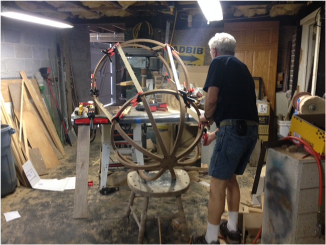 My stepdad Dave Jensen installs the cockpits that he patiently crafted with precise detail over months, in the very basement at home where we shot the interiors of RAIDERS ADAPTATION as kids.