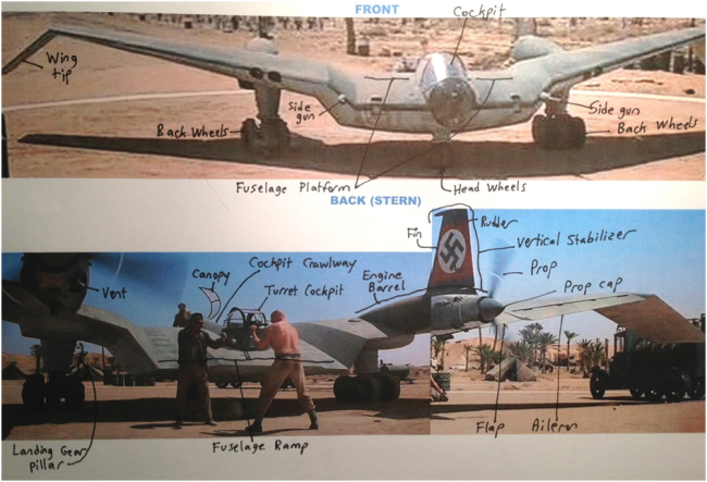 Zala's notes for plane designer David Carambat