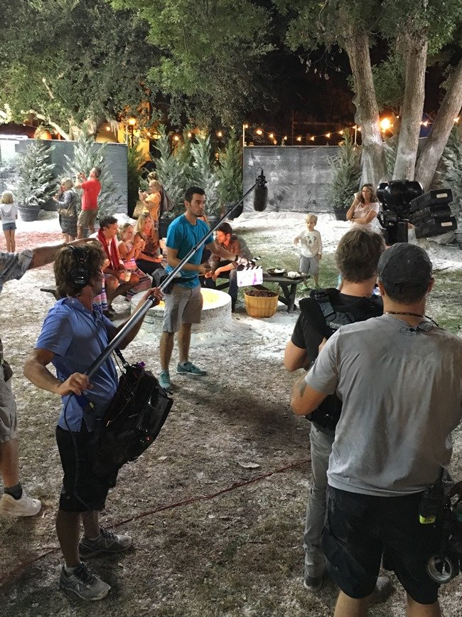 On the Orlando set of a 2015 commercial for International Delight