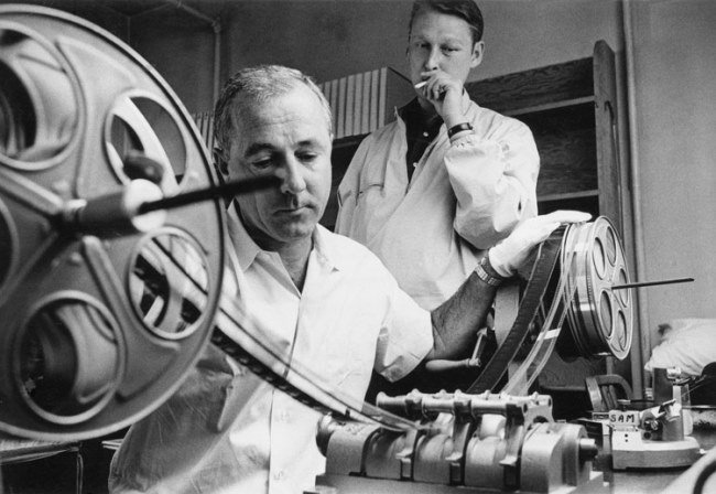 O'Steen (left) and longtime collaborator, director Mike Nichols (right)