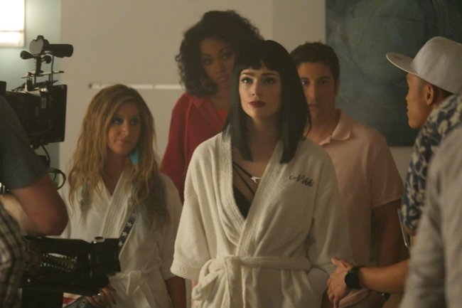 Janet Montgomery (center) as Nikki in Amateur Night