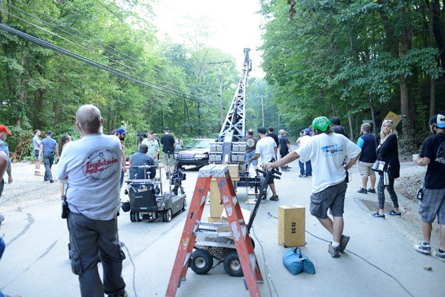 On set for the fourth (and final) season of Cinemax's Banshee in Pittsburgh. Photograph by James A Mahathey