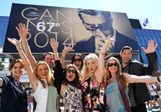 Patricia Chica and Badazz Films Team in Cannes