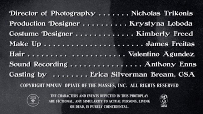 The credit sequence for Kill Me, Deadly. Courtesy of Derrett Sanders.