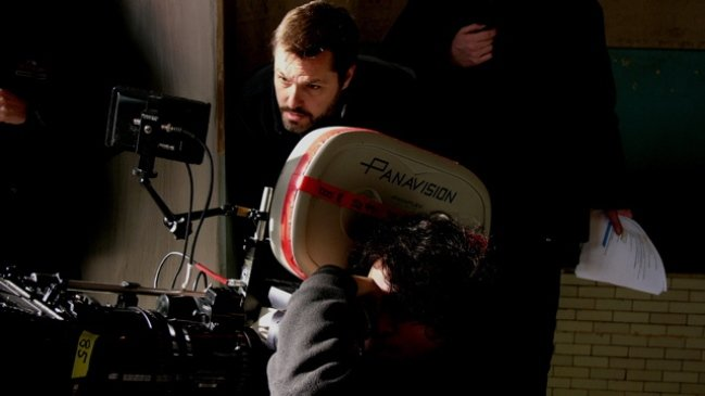 One More Time writer-director Robert Edwards on set