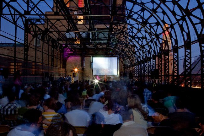 Rooftop Films designs spectacular alternative-venue screenings around New York City all summer long. Photograph by Dillon DeWaters