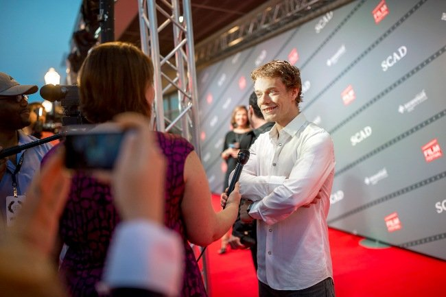 Actor Alfie Allen received the Rising Star Award at the 2015 Savannah Film Festival. Courtesy of SCAD