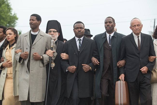 Cast join hands to bring to life the march to Montgomery on Bloody Sunday, March 7, 1965