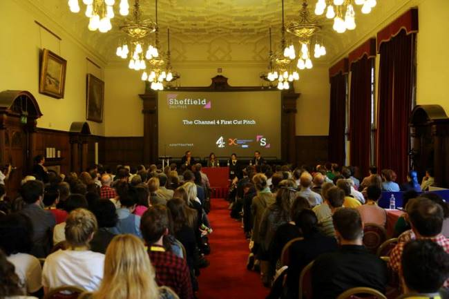 The Channel 4 First Cut Pitch at Sheffield Doc/Fest. Courtesy of Sheffield Doc/Fest