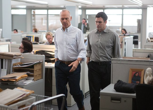Michael Keaton (left) and Mark Ruffalo (right) in Spotlight