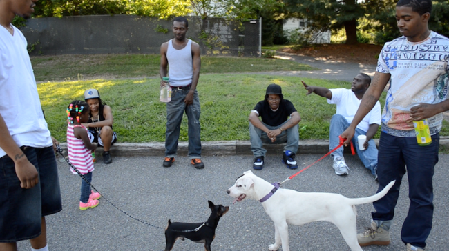 Later in the film, the guys meet other dog owners who dispense advice