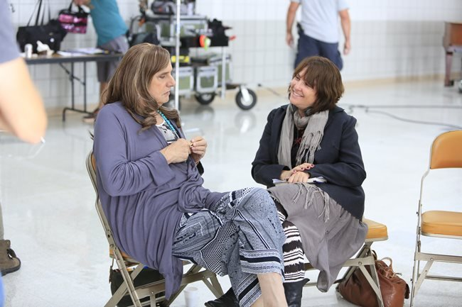 Jeffrey Tambor and Jill Soloway on the set of Transparent (photograph by Gregory Zabilski)