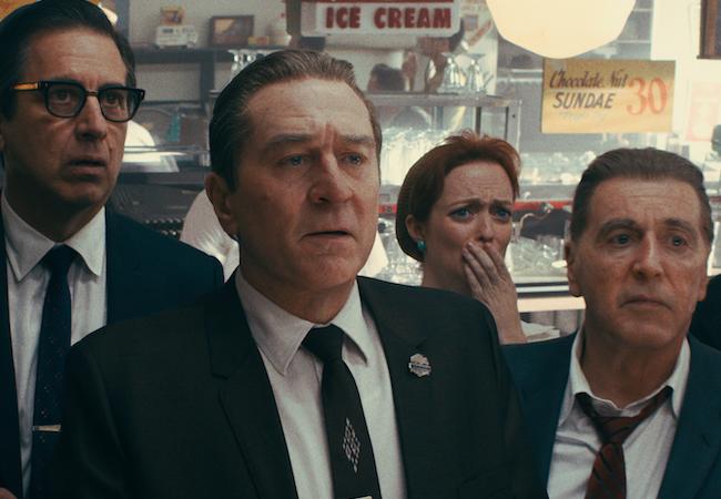 The Irishman ages De Niro Al Pacino Not shown: Joe Pesci