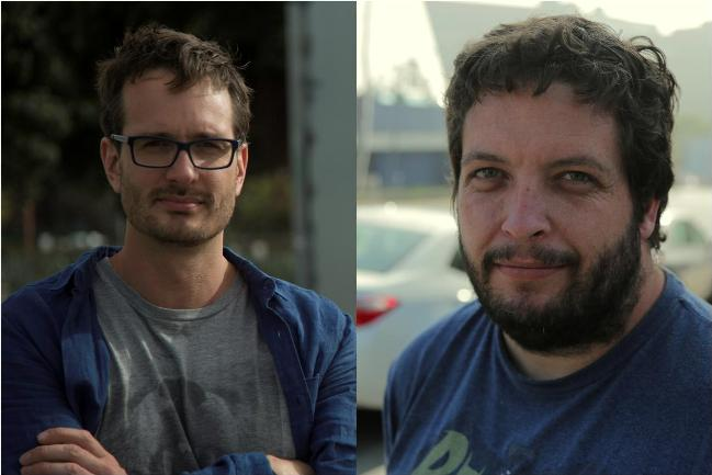 David Farrier (photograph by Dylan Reeve) and Dylan Reeve (photograph by Dominic Fryer)