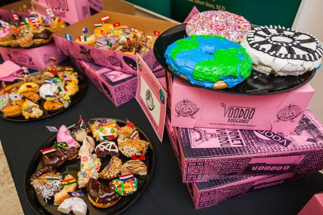 A spread of Voodoo Donuts at PIFF's opening night