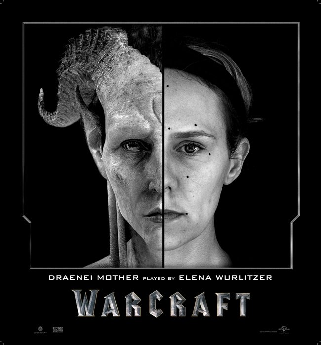 Character posters revealed the work put into facial animation. Courtesy of Legendary and Universal Pictures