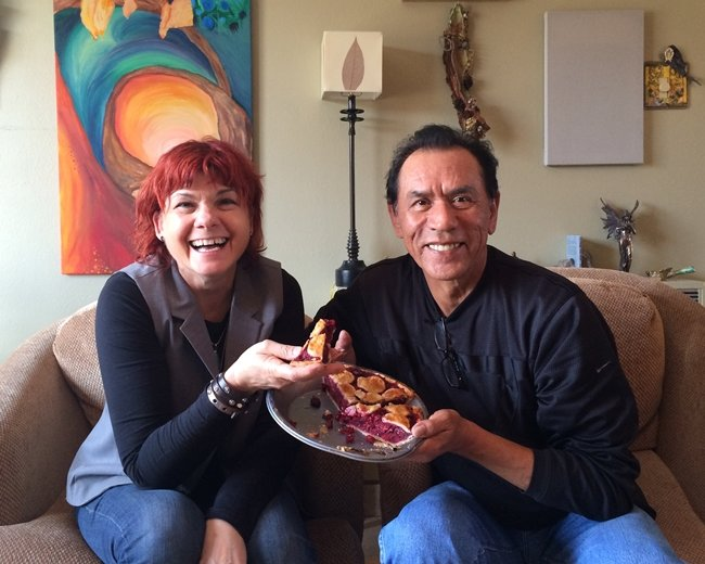 "Jane Rosemont and Wes Studi of ""Pie Lady of Pie Town."" Courtesy of Jane Rosemont"