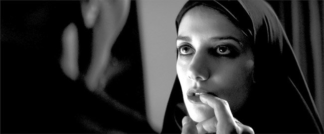 The Girl (Sheila Vand) in A Girl Walks Home Alone at Night shows that love bites.