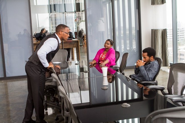 Anthony Mackie, Octavia Spencer and Andre Holland in Black or White