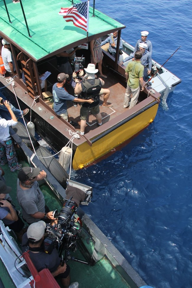 Shooting a sequence from Papa on the water