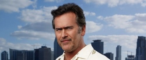 BURN NOTICE -- Pictured: Bruce Campbell as Sam Axe -- USA Network Photo: Justin Stephens