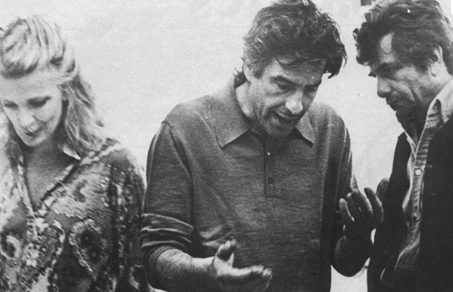 Rowlands, Cassavetes and Falk on the set of A Woman Under the Influence