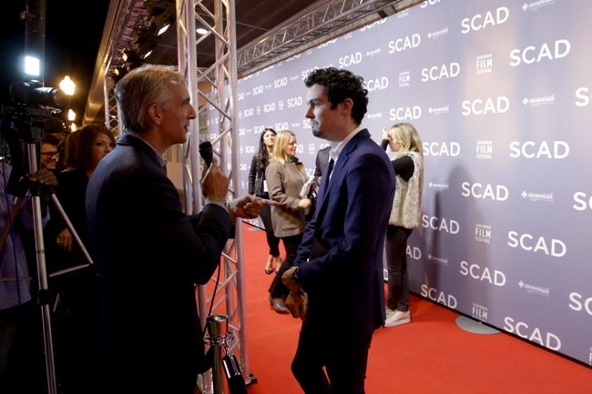 Damien Chazelle walks the red carpet at the Savannah Film Festival