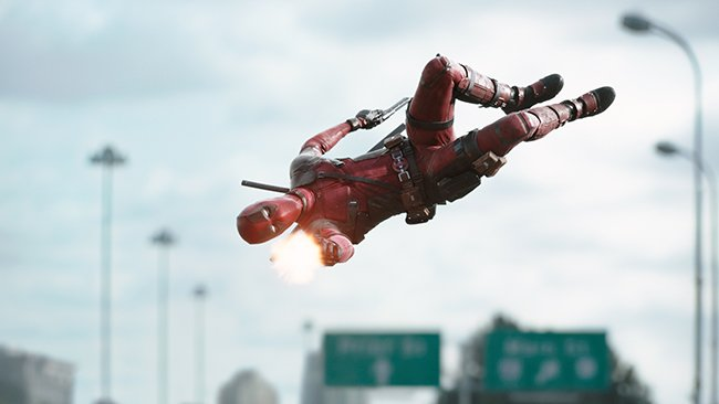 Deadpool's script pokes fun at the superhero genre, while also fully existing within its world.