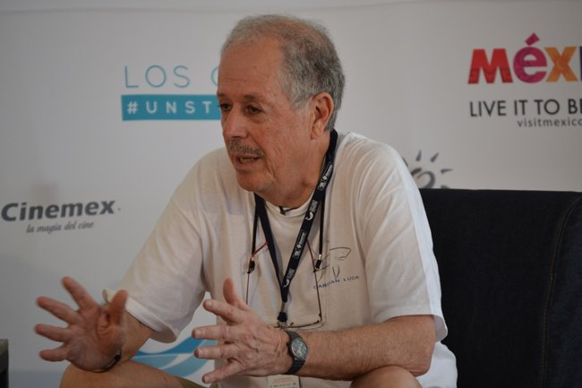 Director Denys Arcand at the Los Cabos International Film Festival.