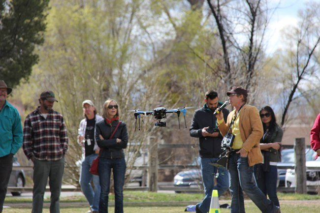 Taos Shortz Film Fest featured a drone workshop, a masquerade and other events  Credit: Image by Anne-Sophie Lenoir