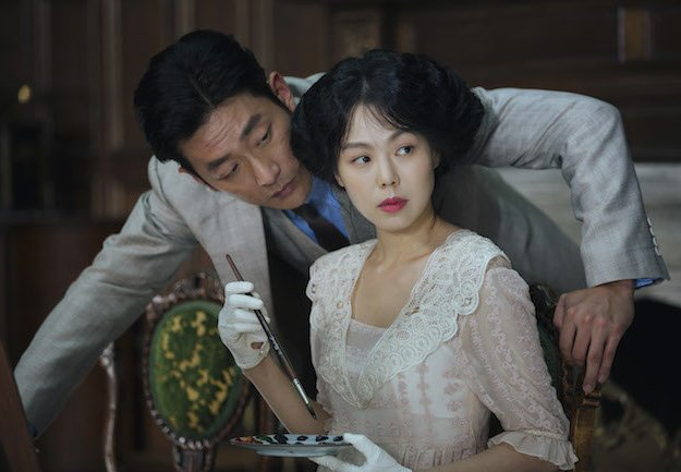 Ha Jung-woo and Kim Min-hee in The Handmaiden, an Amazon Studios / Magnolia Pictures release. Photo courtesy of Amazon Studios / Magnolia Pictures.