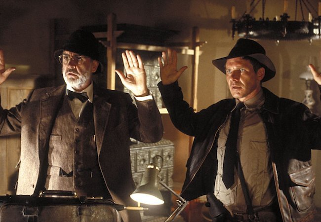 Sean Connery and Harrison Ford in Indiana Jones and the Last Crusade.