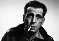 Humphrey Bogart Smoking Cigarette