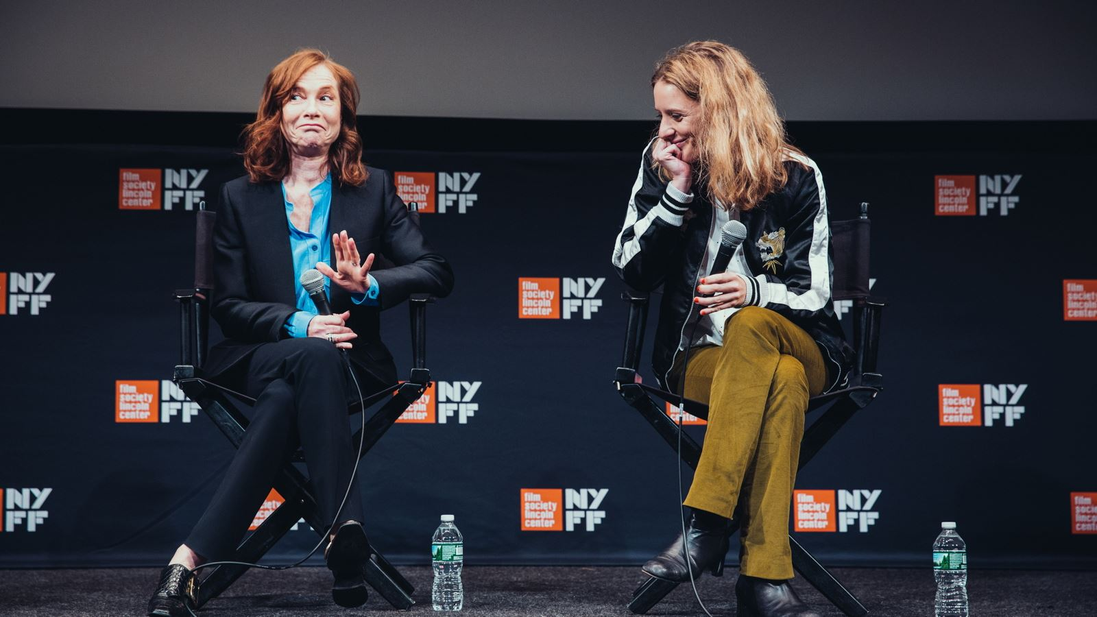 Isabelle Huppert and Mia Hansen-Løve. Photograph by Daniel Rodriguez