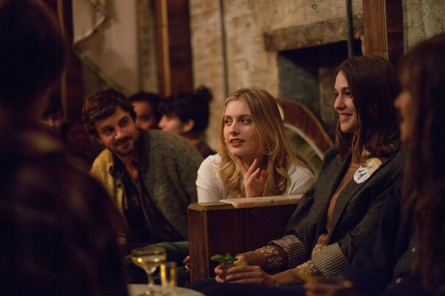 "Greta Gerwig as ""Brooke"" and Lola Kirke as ""Tracy"" in MISTRESS AMERICA. Photo by David Feeney-Mosier. © 2015 Twentieth Century Fox Film Corporation All Rights Reserved"