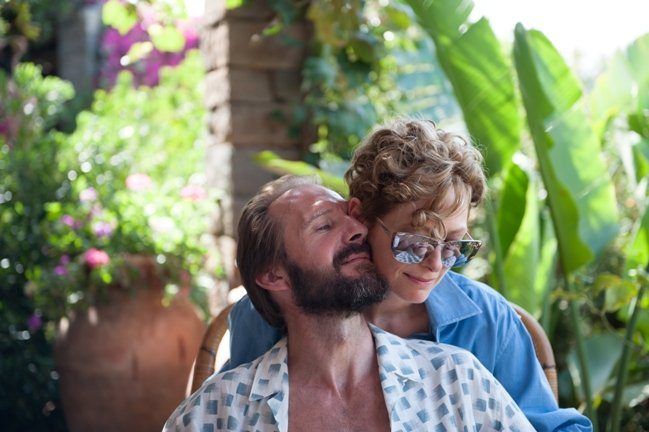 "Ralph Fiennes as ""Harry Hawkes"" and Tilda Swinton as ""Marianne Lane"" in A BIGGER SPLASH. Photo courtesy of Fox Searchlight Pictures. © 2015 Twentieth Century Fox Film Corporation All Rights Reserved"