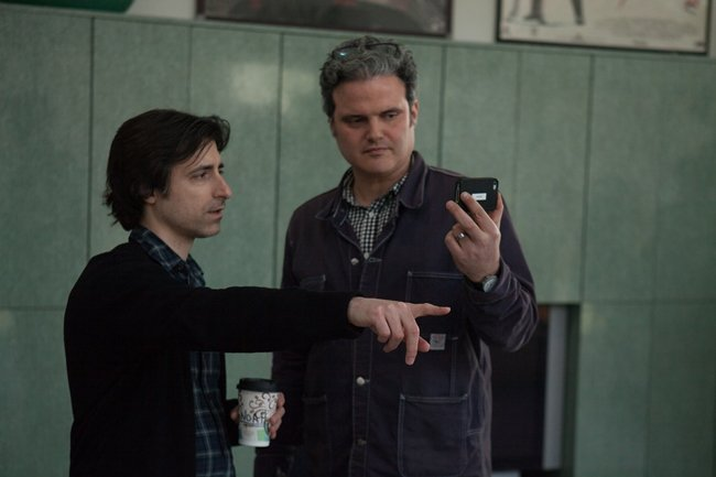 Director Noah Baumbach and DP Sam Levy on the set of Mistress America. Photo by David Feeney-Mosier