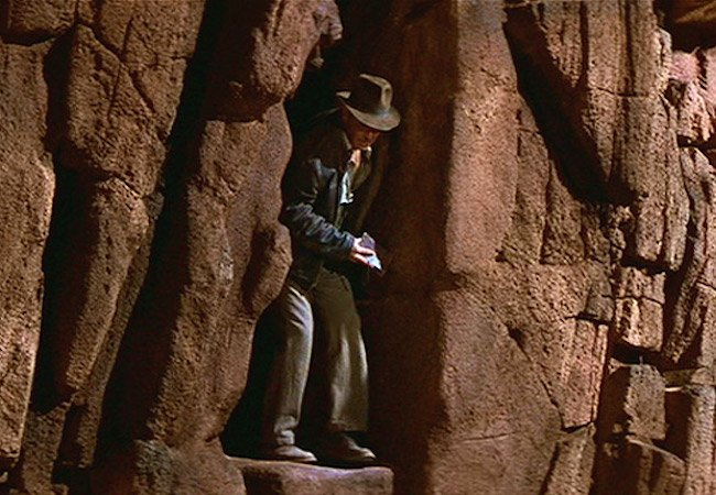The leap of faith: Harrison Ford as Indiana Jones in Indiana Jones and the Last Crusade