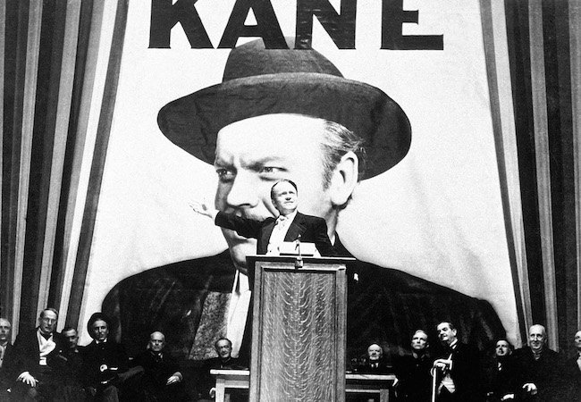 Orson Welles as Charles Foster Kane in Citizen Kane. Image Courtesy of Everett Collection.