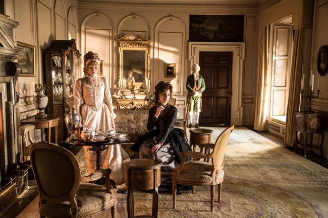 Emma Greenwell and Kate Beckinsale in Love & Friendship, Whit Stillman's adaptation of a couple of Jane Austen's early short novels Credit: Photograph by Bernard Walsh / Courtesy of Amazon Studios and Roadside Attractions