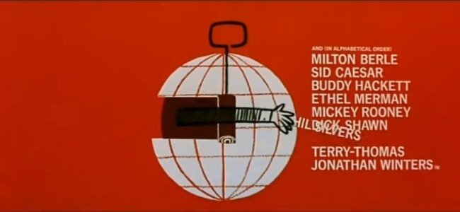 The title sequence for It's a Mad, Mad, Mad, Mad World, designed by Saul Bass