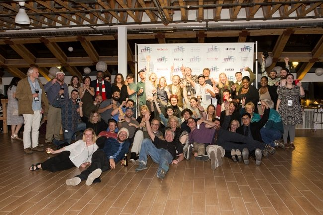 Filmmakers at the closing night party for Mammoth Lakes Film Festival 2016. Courtesy of kendra knight photography