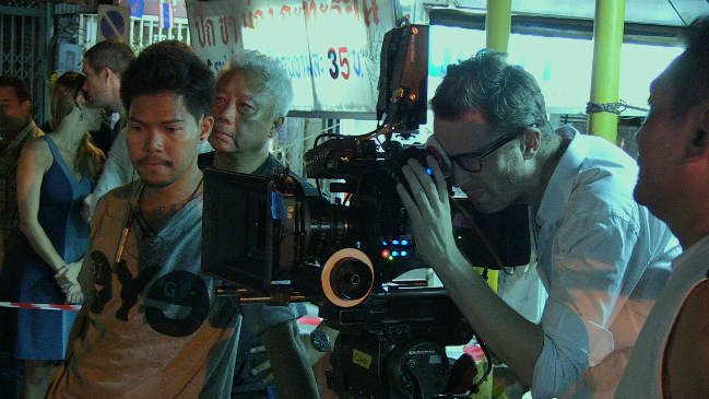 Nicolas Winding Refn shooting Only God Forgives in Bangkok
