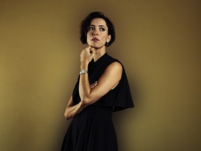 Rebecca Hall, star of Antonio Campos' Christine, photographed in Manhattan by Harrison Weinstein.