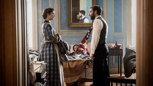 Ridley Scott comes to town: Mary Elizabeth Winstead and Josh Radnor in the director's Civil War series Mercy Street, filmed in Richmond and Petersburg, Virginia. Courtesy of Antony Platt and PBS